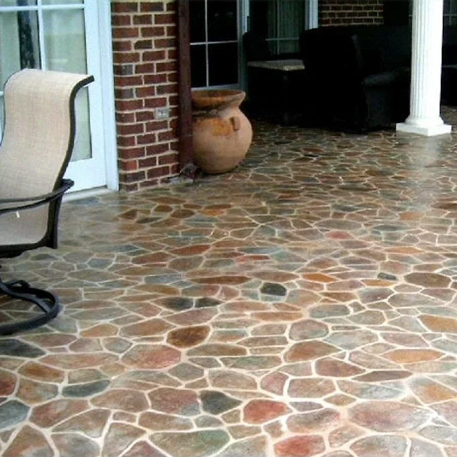 Special Order pattern outdoor Floor in the Flagstone color.