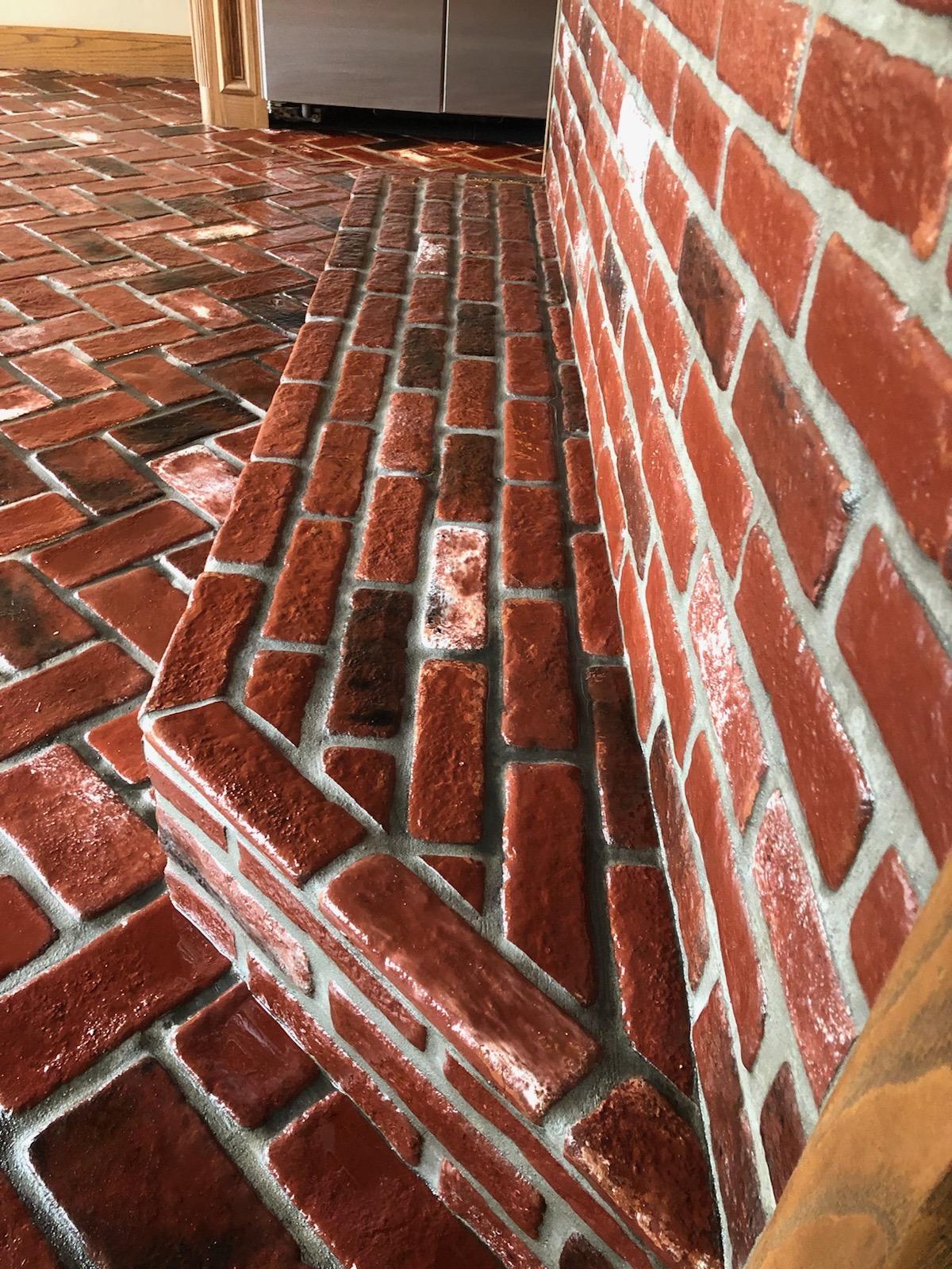 Patriot Pavers Sadie's Vineyard brick color